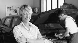 Patricia garage Porsche